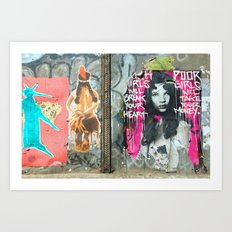 Rich Girl Poor Girl Art Print