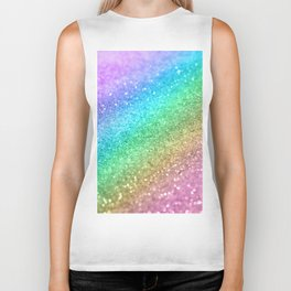 Rainbow Princess Glitter #1 (Photography) #shiny #decor #art #society6 Biker Tank