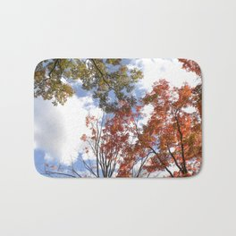 Fall Sky View, Wellesley College Bath Mat