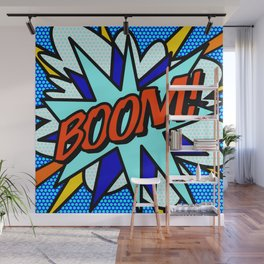 Comic Book BOOM Wall Mural