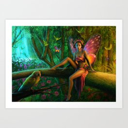 Exotic Butterfly Art Print