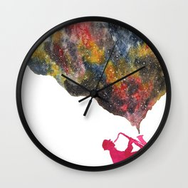 Space Jazz Wall Clock