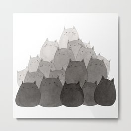 Kitty Pile Metal Print