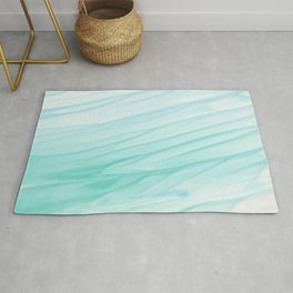 watercolor teal Rug
