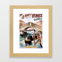 Venice of To-Day at Olympia Framed Art Print