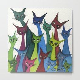 Coronado Whimsical Cats Metal Print