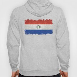 Paraguay Flag, vintage with distressed edges Hoody