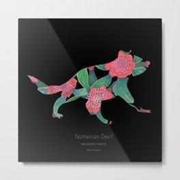 Tasmanian Devil - black Metal Print