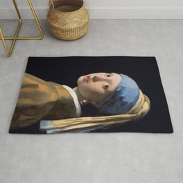 Johannes Vermeer - Girl with a Pearl Earring Rug