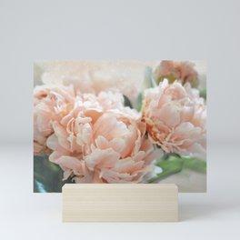 Peach Peonies Mini Art Print