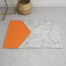 Geometric Concrete Arrow Design - Orange #118 Rug