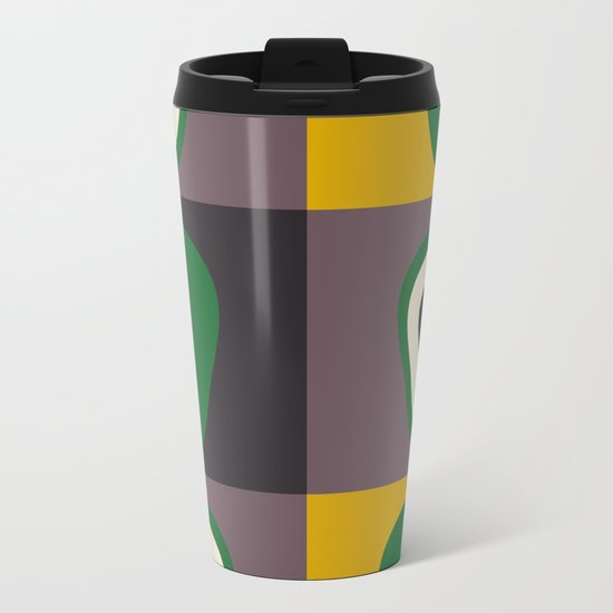 Avocado print Metal Travel Mug