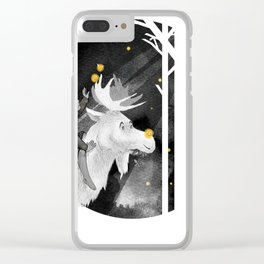 Night Forest Journey Clear iPhone Case