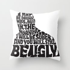 Best Churchill Quote Ever Throw Pillow