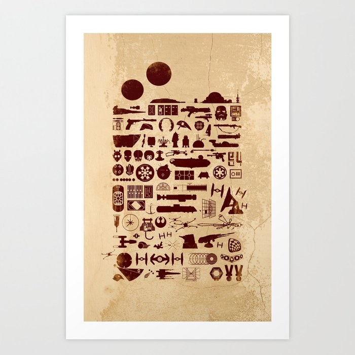 Posted on a Cantina Wall - Star Wars Art Print