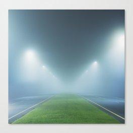 Boulevard in the Fog Canvas Print
