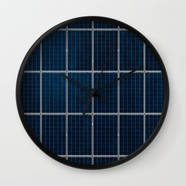 Solar Panel Pattern (Color) Wall Clock