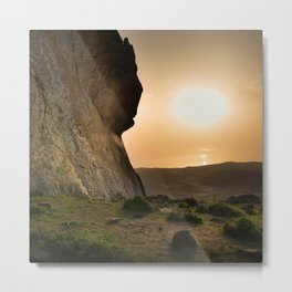 ISLAND STORIES XVIII Mountain Sunset view Metal Print