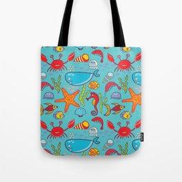 Cute Kids Ocean Sea Life Marine Pattern Tote Bag
