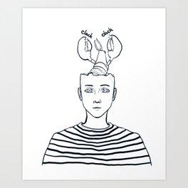 clack clack Art Print