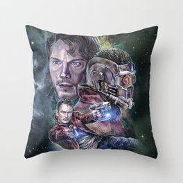 Star Lord - Galaxy Guardian Throw Pillow