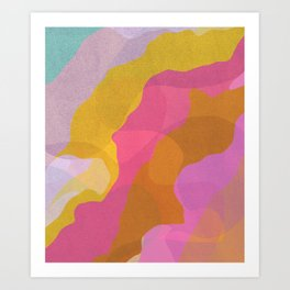 Bright Waves Art Print