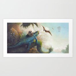 Confronting the Pterosaurs Art Print