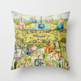The Garden of Earthly Delights by Bosch Throw Pillow