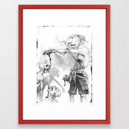 Punks Undead Framed Art Print