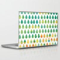 rain Laptop & iPad Skins featuring Monsoon Rain by Picomodi