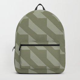 Modern Simple Geometric 4 in Sage Green Backpack