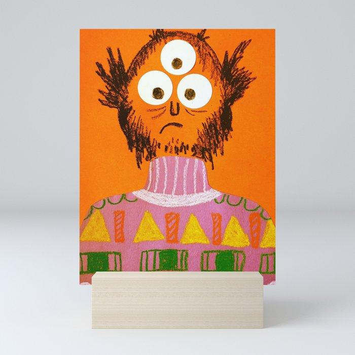 Shape Sweater Monster Mini Art Print