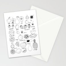 Hand  drawn collection of various fruits Stationery Cards