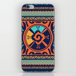 Colorful Hunab Ku Mayan symbol #2 iPhone Skin