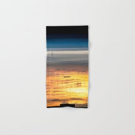 Sunset From the International Space Station Hand & Bath Towel