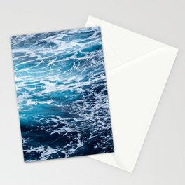 Photograph of beautiful dark blue ocean Stationery Cards