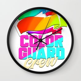 Color Guard Crew Wall Clock