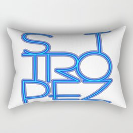 St. Tropez in blue neon Rectangular Pillow