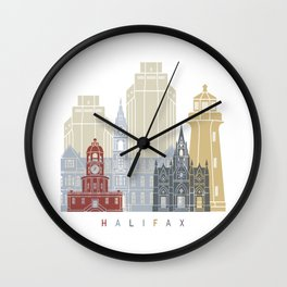 Halifax skyline poster Wall Clock