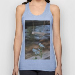 White Flowers Vintage with Swing Unisex Tank Top