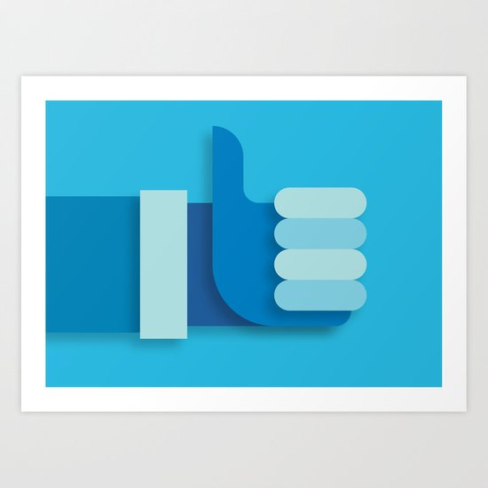 Thumbs Up Art Print