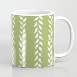 Sap Vines - nature spring leaves green pattern Coffee Mug