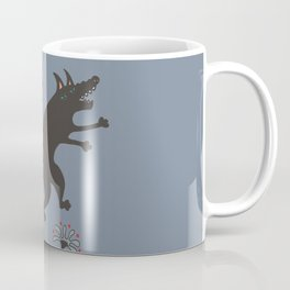 Black Dog Dancing in a Gorey Garden Coffee Mug