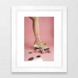 SOILANDSOLE SNEAKER AND ROSES Framed Art Print