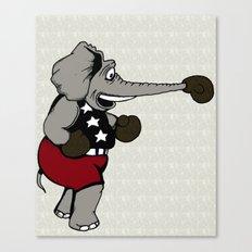 Boxing Elephant Canvas Print