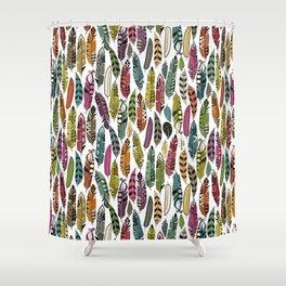 joyful feathers Shower Curtain