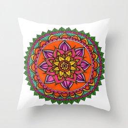 Mandala hojas Throw Pillow