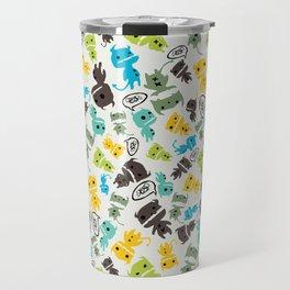 Cute Sketchy Monsters Travel Mug