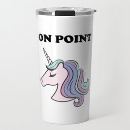 On Point Unicorn Travel Mug