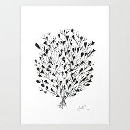 Shrub in Bloom Art Print
